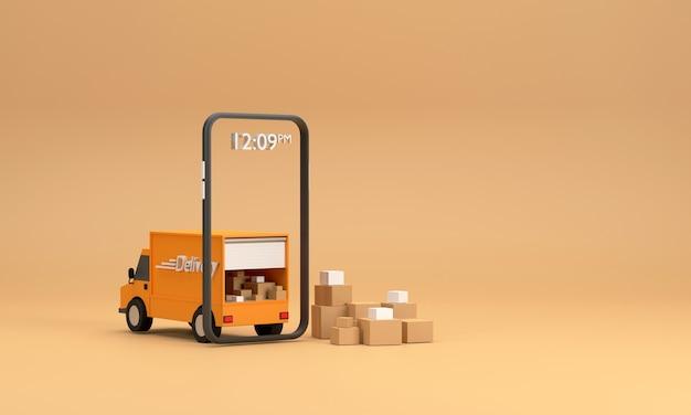 Продажа через интернет с мобильных телефонов, готовых доставить на грузовике.