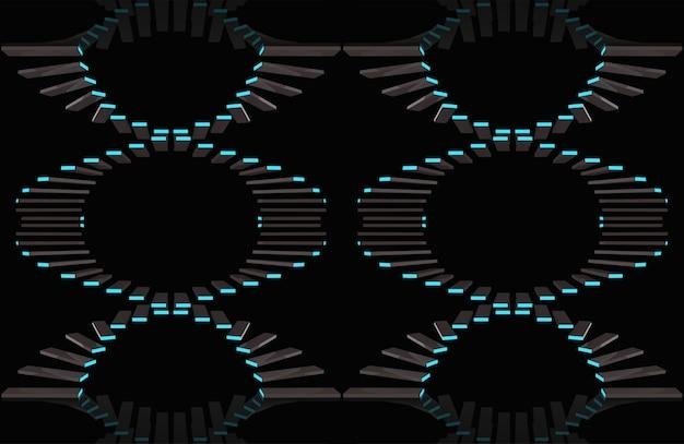 Semaless современные темные панели с синим светом шаблона backgorund.
