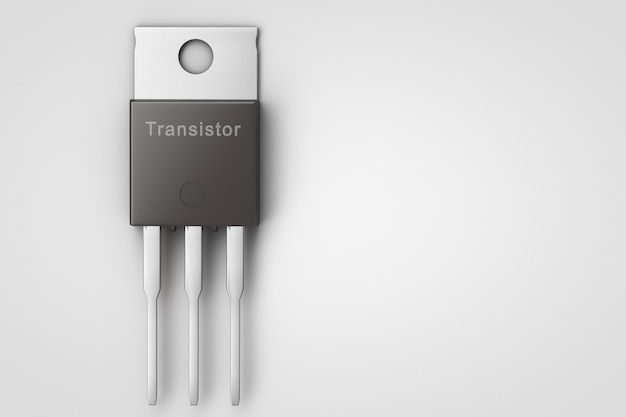 半導体トランジスタのクローズアップ。スペースをコピーします。 Premium写真