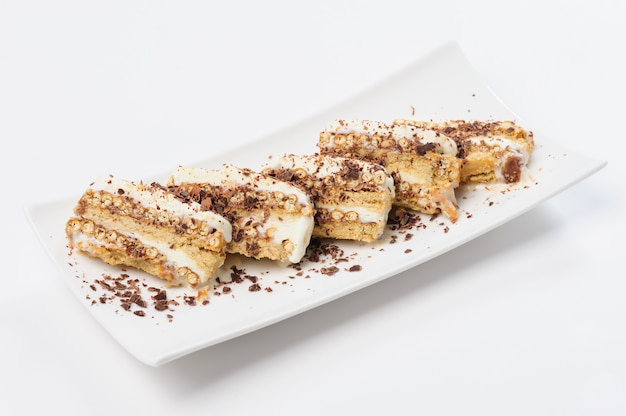 Semifreddo dessert with ice cream and cookies
