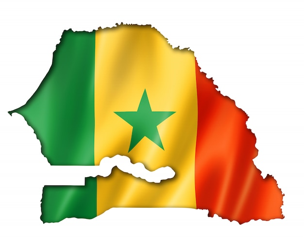 Senegalese flag map