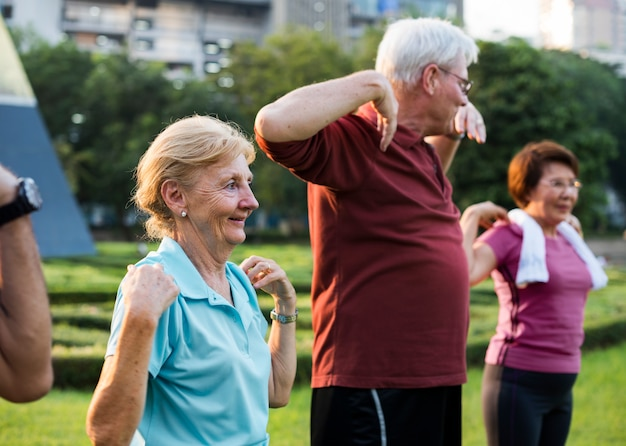 Senior adult exercise fitness strength