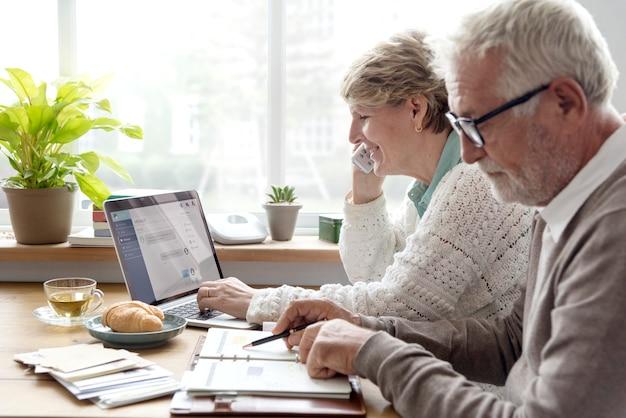 Senior adult planning agenda calendar concept