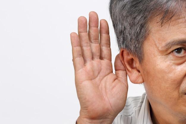 アジアのシニア男性難聴