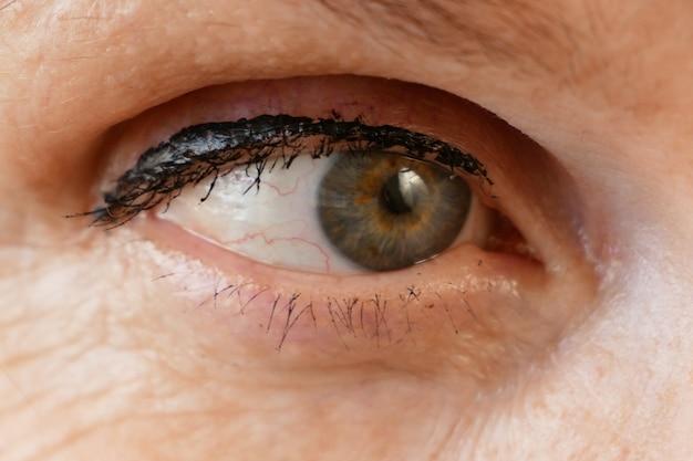 Senior caucasian woman's eye, macro