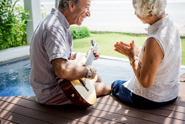 Senior couple enjoying their vacation