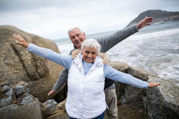 Senior couple enjoying together