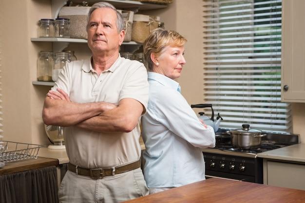 Senior couple having an argument