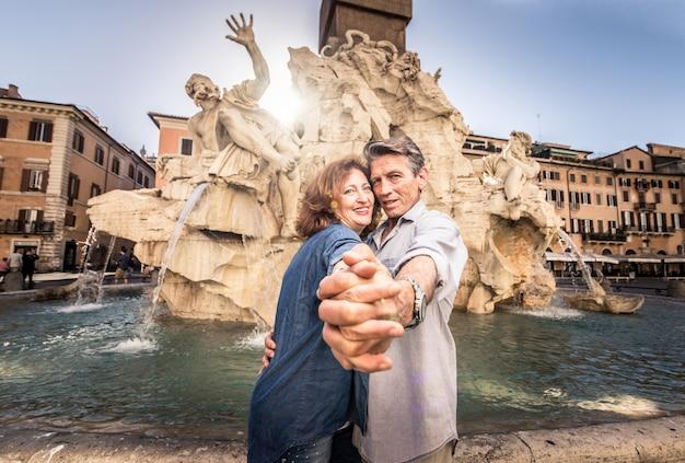 Senior couple in rome