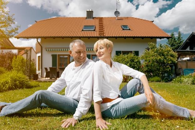Senior couple and their garden home