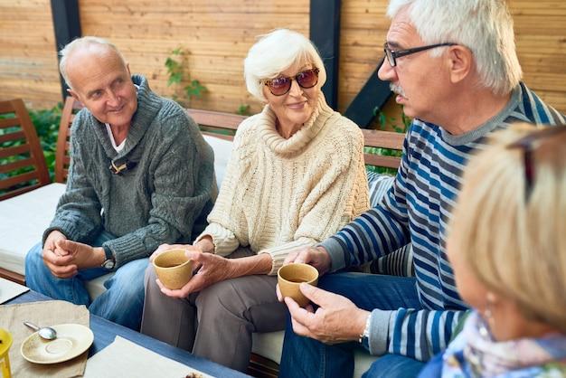 Senior friends enjoying time together
