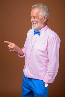 Senior handsome man wearing stylish clothes