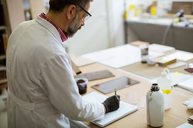 Senior male researcher in a lab