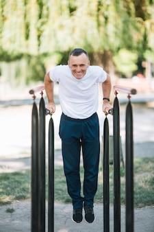 Senior man exercising outdoor