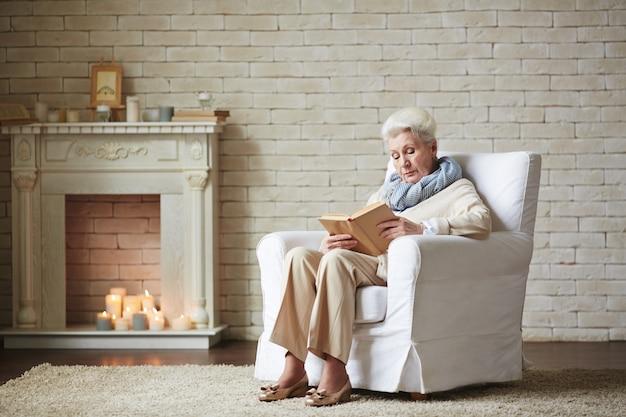 Senior reader of detective stories