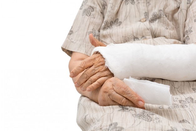 Senior women with broken arm