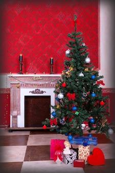 Сенсационный винтажный рождественский интерьер в студии