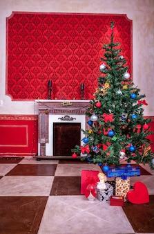 センセーショナルなヴィンテージクリスマスインテリアスタジオショット