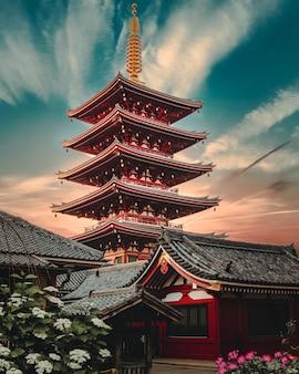 Сэнсо-дзи, древний буддийский храм в асакусе, токио