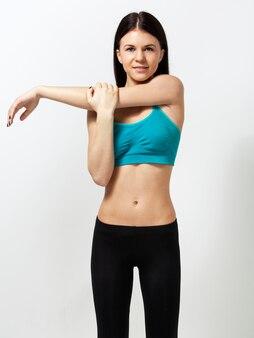 관능적 인 운동 여자