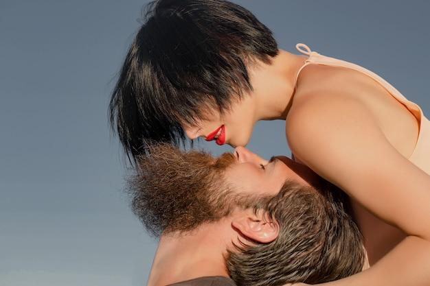 Sensual couple on nature