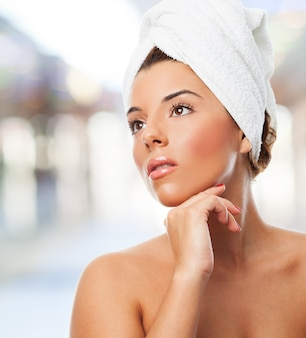 Sensual woman in towel Free Photo