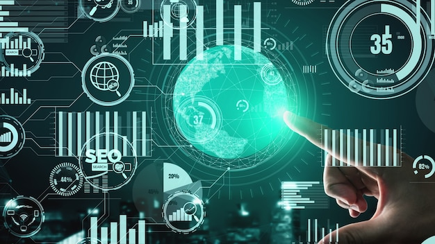 Seo search engine optimization business conceptual