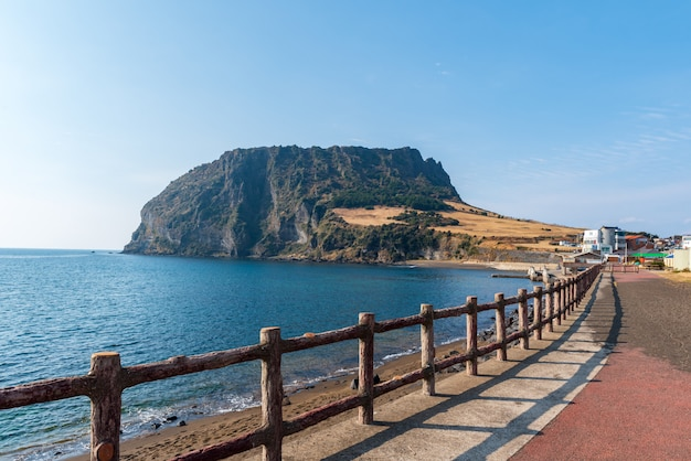 Seongsan ilchulbong in jeju island,south korea.