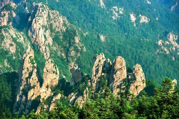 雪岳山国立公園、韓国で最高の山。