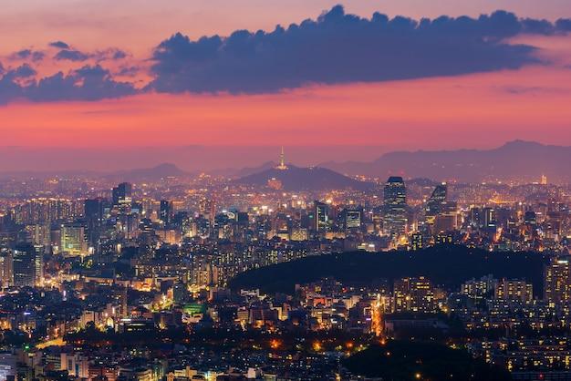 Seoul city skyline, the best view of south korea.