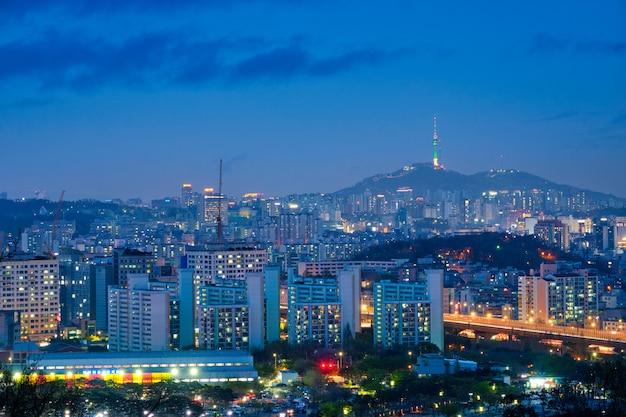 Сеул ночной вид, южная корея