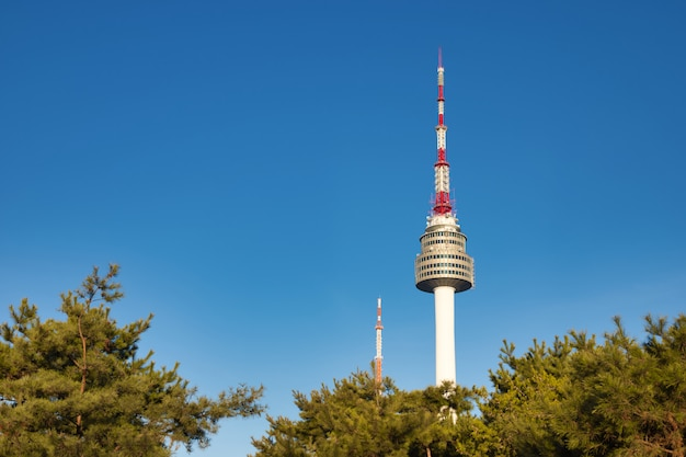 Seoul tower at seoul city, south korea.