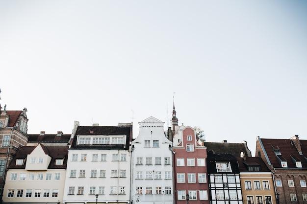 1 сентября 2018 - гданьск / польша: архитектура гданьска, польша в центре старого города