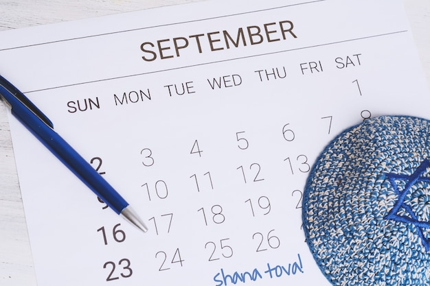 Сентябрьский календарь с