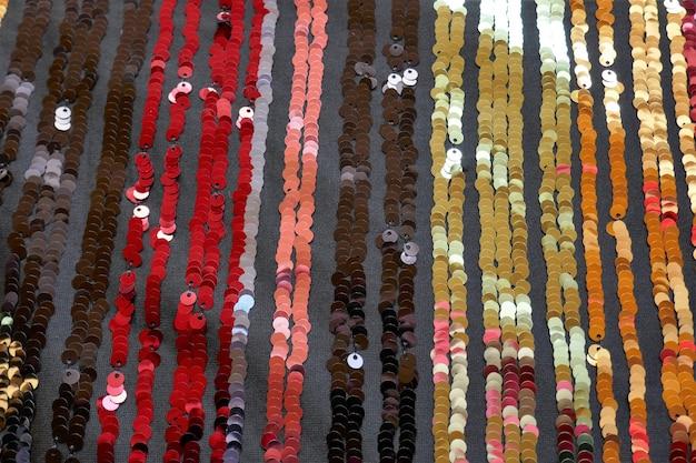 Блестки макро фон полосатый красочный фон полосатая ткань с пайетками