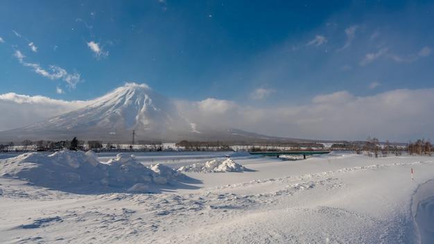 Serene snow landscape