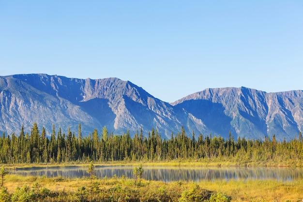 알래스카 툰드라의 고요한 호수