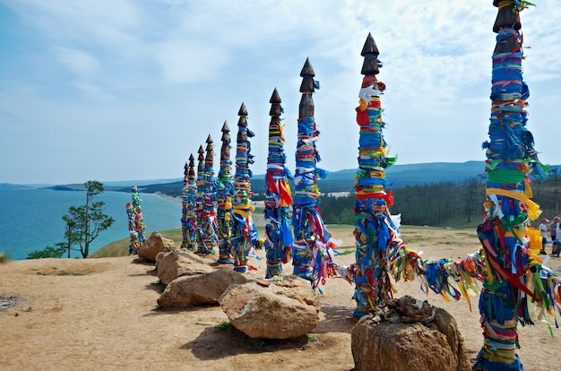 Serge - olkhon 섬, 바이칼 호수, 시베리아, 러시아의 기둥