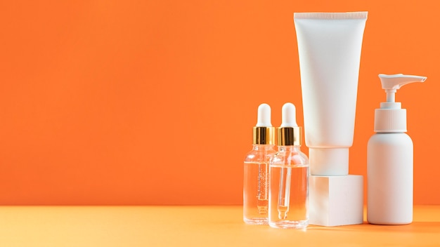 Serum bottles and creme containers