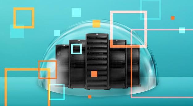 Группа серверов с быстрым подключением к цифровой сети