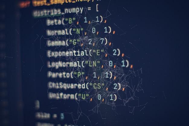 サーバーログ分析。プログラミングとコーディング技術を開発するクローズアップ。オフィスでウェブサイトのコードに取り組んでいる開発者。