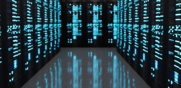 Servers data center room