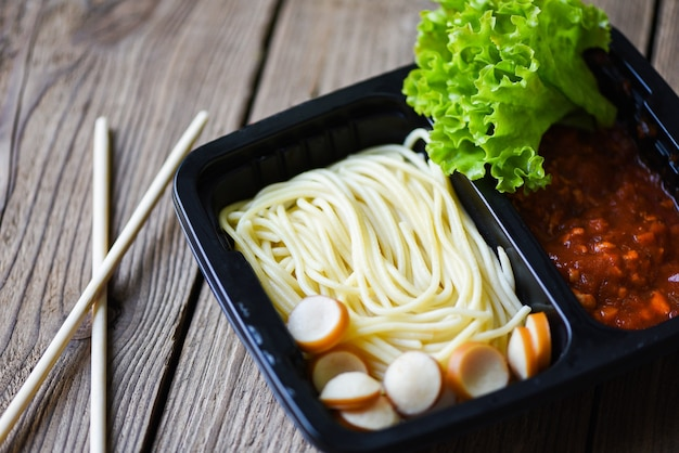 Услуга заказа еды онлайн доставка спагетти итальянские на food box, доставка еды на take away