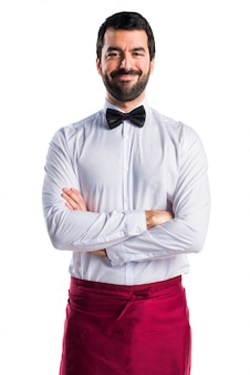 Service handsome waiter male bow