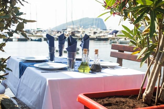 야외 서빙 테이블