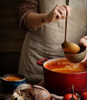 Идея рецепта фото еды томатного супа