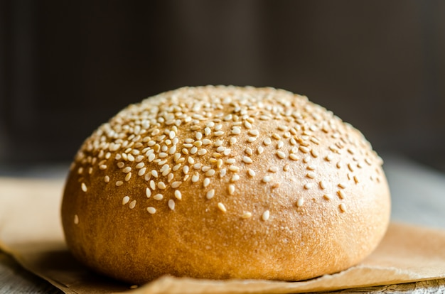 Sesame bun with seeds