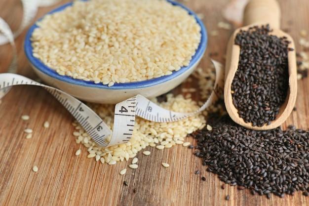 Sesame seeds for health Premium Photo
