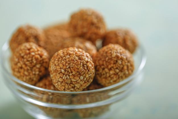 Sesame seeds for makar sankranti festival,