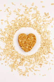 Sesame seeds with cereals top view